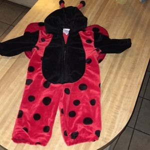 Ladybug zip up costume by miniwear size 6/9 months